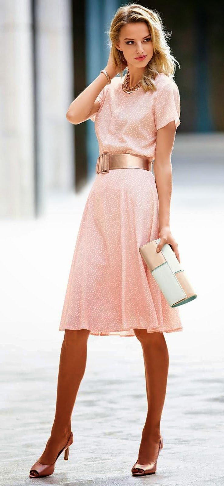 MADELEINE  SILK SKIRT IN POWDER ROSE