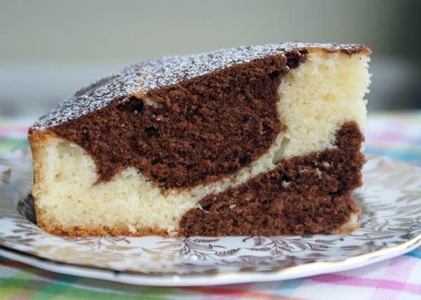 الكيكة الرخامية الماربل كيك بالفيديو