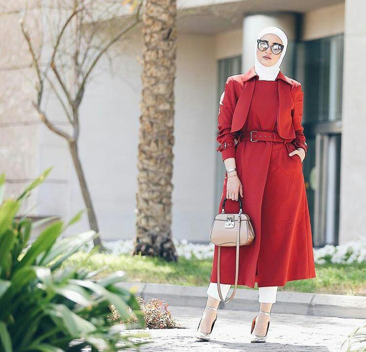 موضة وستايل لملابس المحجبات شتاء 2019.