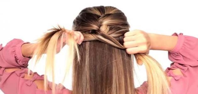 فيديو طريقة عمل ضفيرة الشعر