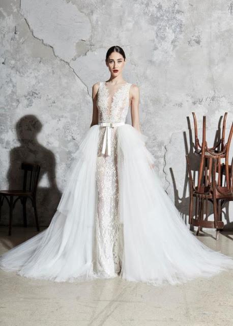 فساتين زفاف 2020 بتصميم التنورة الإضافية